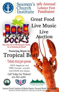 Rock The Docks at Fort Adams, August 30th, 6-9:30pm