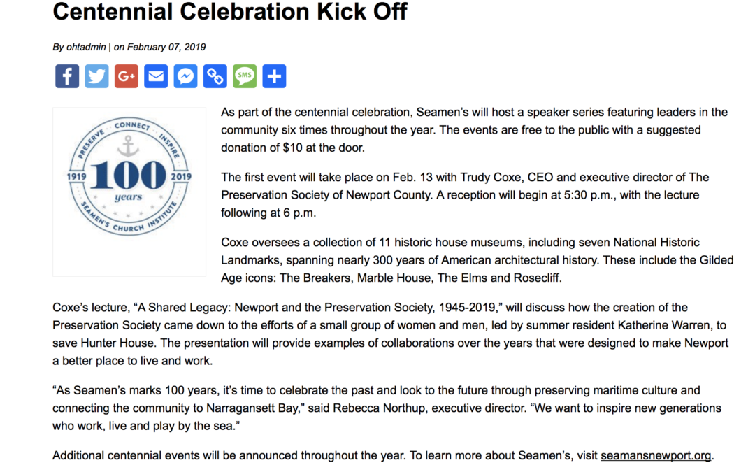 Centennial Celebration Kick-Off
